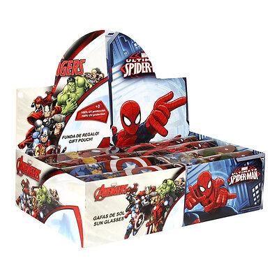 Disney Marvel Spiderman Kinder Sonnenbrille 100% UV-Schutz inc Brillenetui NEU