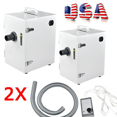 2x Dental Digital Single-row Dust Collector Collecting Vacuum Cleaner Equipment