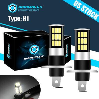 Xenon H1 LED Halogen Headlight Bulbs 6000K High Low Beam Light 100W Ultra White