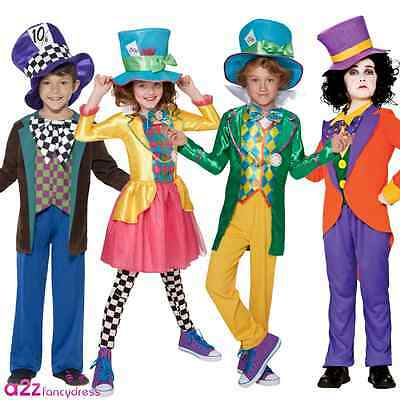 KIDS BOOK WEEK MAD HATTER ALICE IN WONDERLAND BOYS GIRLS FANCY DRESS - Mad Hatter Kostüm Boy