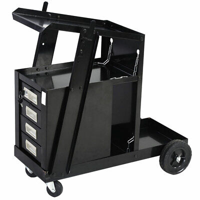 Welding Welder Cart W4 Drawer Cabinet Mig Tig Arc Plasma Cutter Tank Storage