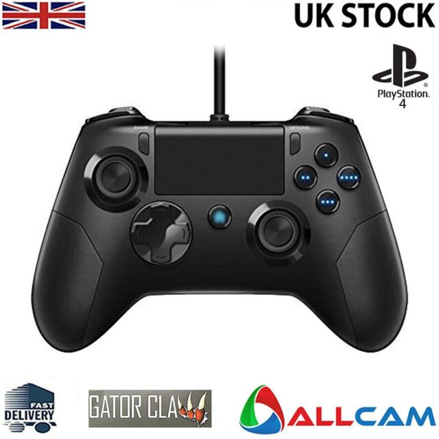 Gator Claw Sony Playstation PS4 Controller wired w/ Upgraded Firmware -  Black