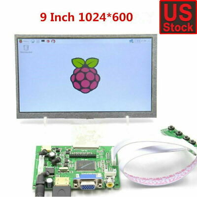 9inch Tft Lcd Display Module Hdmivga2av Driver Board For Raspberry Pi Us Stock