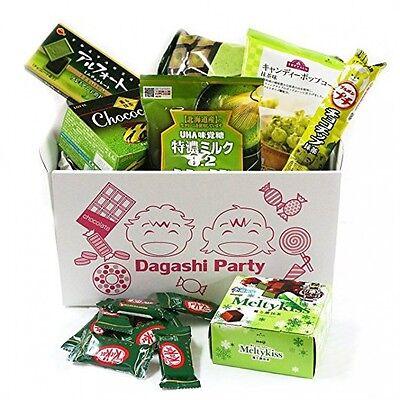 "Assorted Japanese Green Tea Matcha Flavor Junk Food Snacks ""Dagashi"" Party"