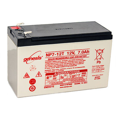 Enersys Genesis 12V 7Ah F2 Battery Replacement For Yuasa Np7 12T
