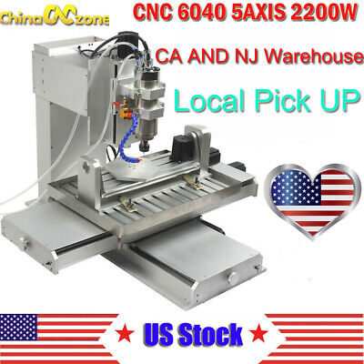 6040 5axis Cnc 2.2kw Router Engraving Usb Port Machine Metal Milling Machine