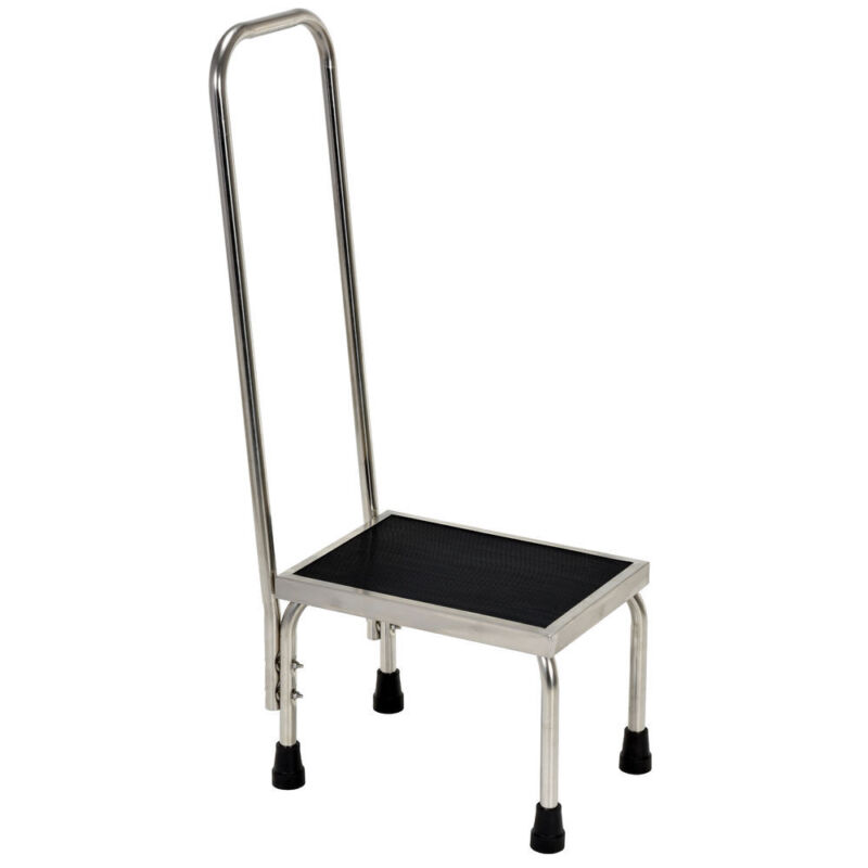 """Vestil Stainless Steel Step Stool with Handle - 15""""L x 11""""W x 37""""H"""