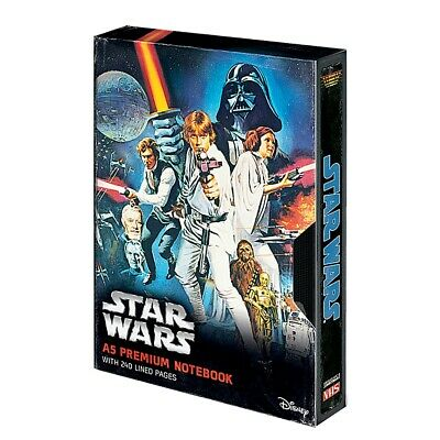 Genuine Star Wars A New Hope Poster A5 VHS Premium Hardback Notebook Note Pad