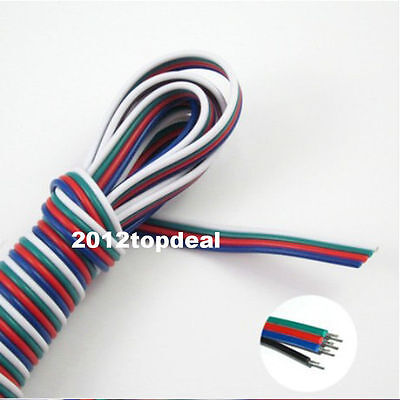 10m 4-pin Rgb Extension Wire Cable Cord For 35285050 Rgb Led Strip Light