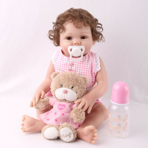 "16"" Full Body Silicone Reborn Baby Doll Anatomically Handmad"