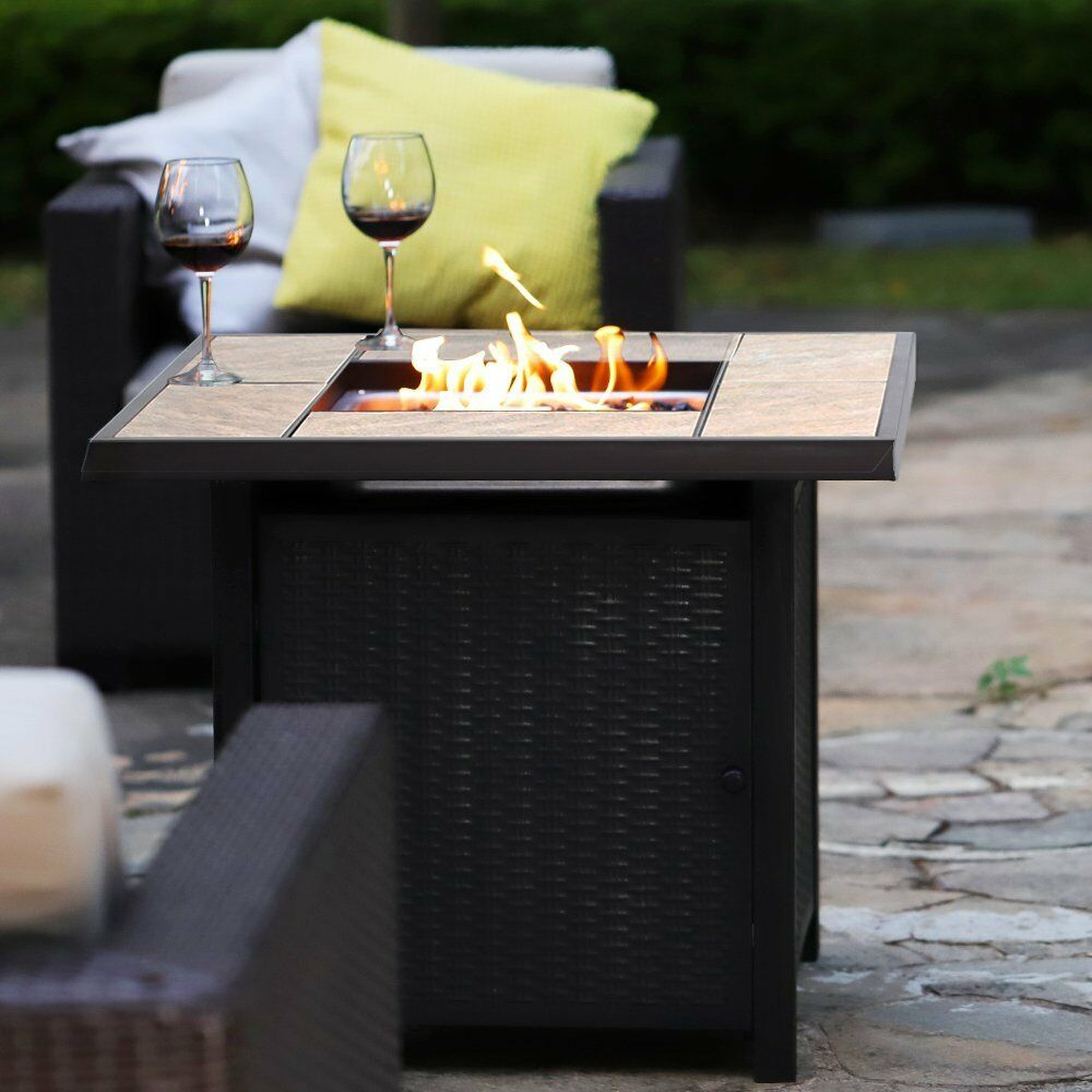 """32"""" LPG Propane Gas Fire Pit Table Fireplace Patio Heater"""
