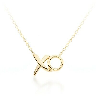Xo Necklace Hugs Kiss Necklace 18K Gold Plated Xoxo Love Pendant Gift