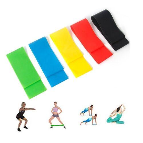 5× Yoga Fitness GYM Resistance Bands Fitnessbänder Bänder Gummibänder Übungsband