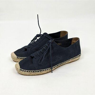 Anthropologie KMB Women's Shoes Jorinda Blue Leather Espadrilles Size 38