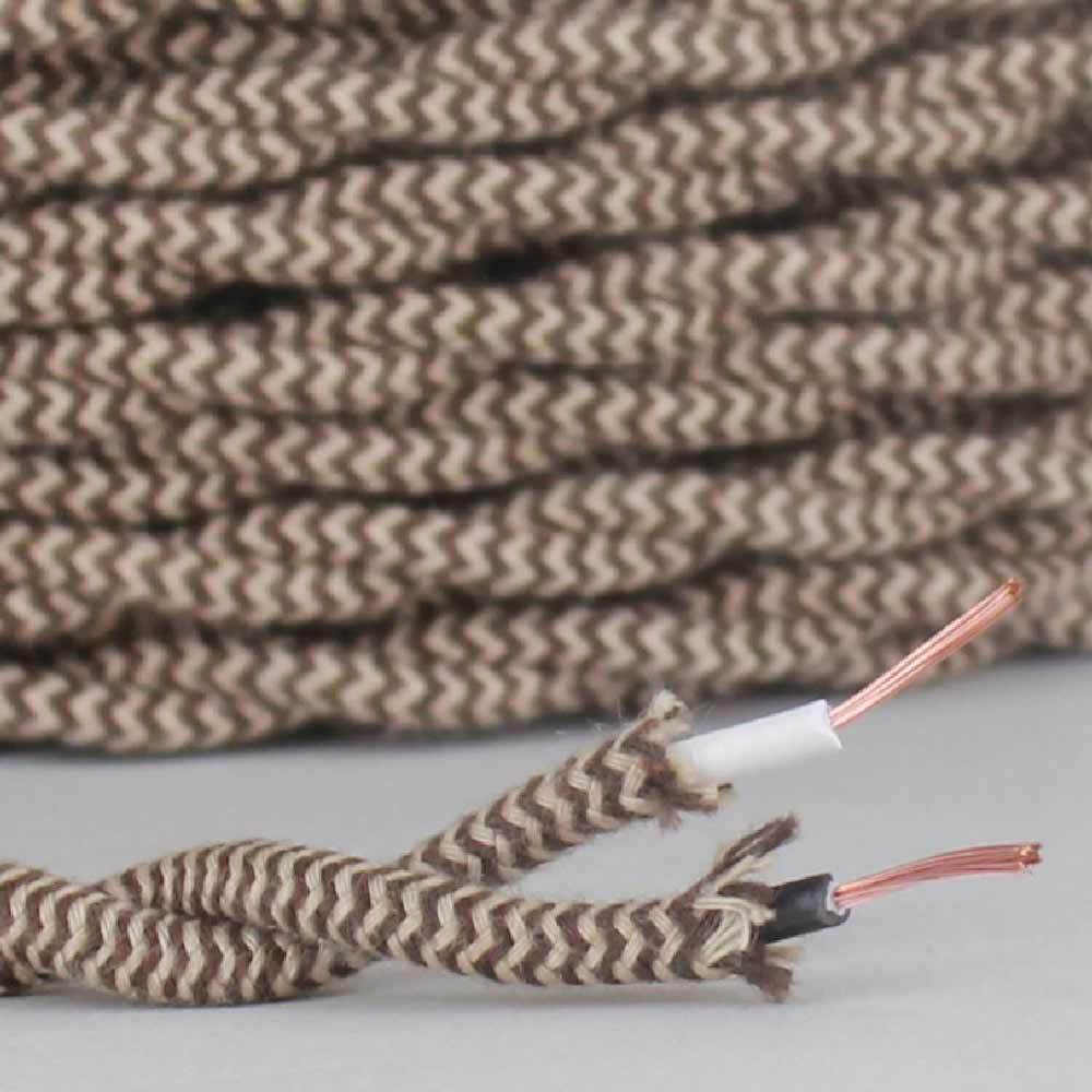 Cloth Covered Lamp Wire Cord  ~ 2-Wire ~ TWISTED ~ { 27 Colo