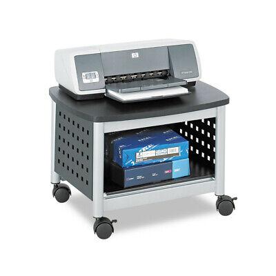 Safco Scoot Printer Stand 20-14w X 16-12d X 14-12h Blacksilver 1855bl New
