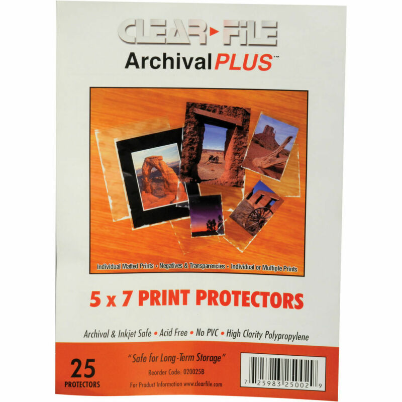 """ClearFile Print Protector (5 x 7"""", 25-Pack)"""