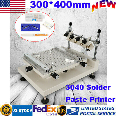 High Accuracy 3040 Manual Solder Paste Printer Pcb Smt Stencil Printing Machine