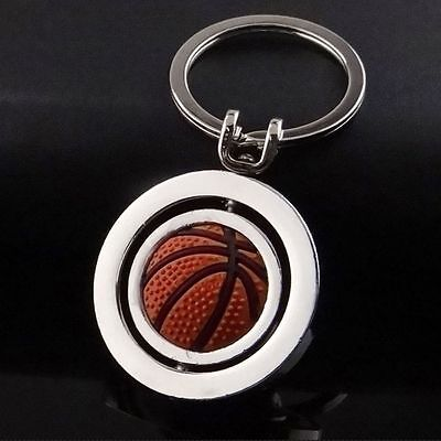 Sale Rotating Basketball Sports Keyring Ring Key Chain Key Fob Ball