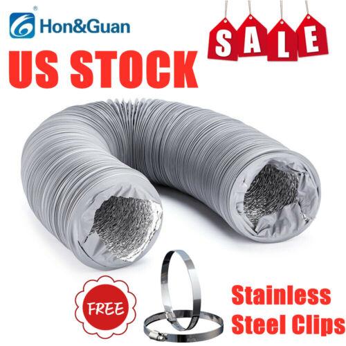 "Hon&Guan 4-6"" 5M Flexible Ducting Vent Pipe Aluminum Foil PV"