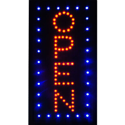 Boshen 19x10 Vertical Led Open Business Sign Animated Neon Light Onoff Switch