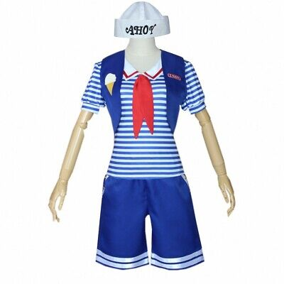 Womans Robin Costume (Stranger Things 3 Robin Scoops Ahoy Sailor Uniform Dress Cosplay Costume)