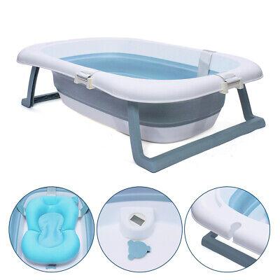 Bañera plegable portátil para bebés, bañera de con Antideslizante + Termómetro