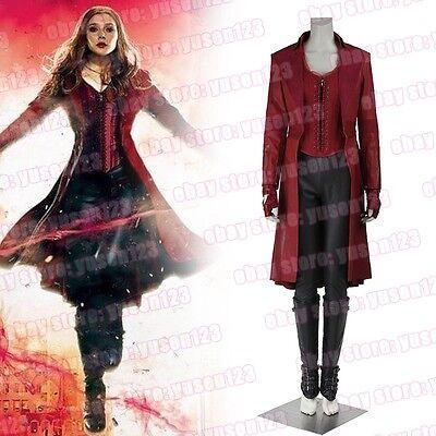 Captain America Civil War Scarlet Witch Wanda Maximoff Cosplay Costume Red - Wanda Maximoff Costume