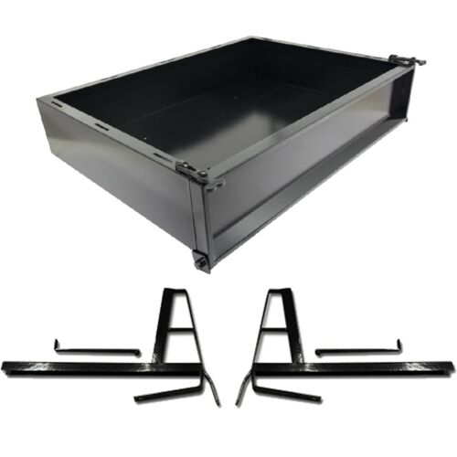 GTW Black Steel Golf Cart Cargo Box Kit Fits Club Car DS 2000 and Up