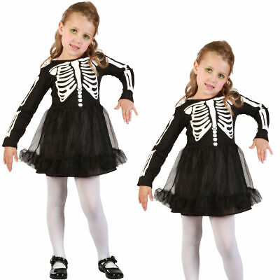 Alter 2-3 Kinder Skelett Kostüm Mädchen Kleinkind Kinder - Kleinkind Skelett Kleid