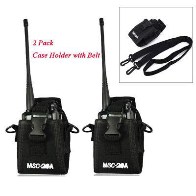 2pcs Walkie Talkie Radio Case Holster For Motorola Gp338 Baofeng Uv5r Uv5ra Uv82