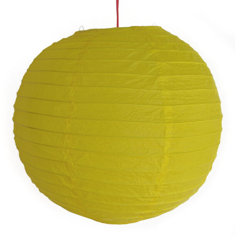 "2 of 12"" Chinese Yellow Paper Lanterns"