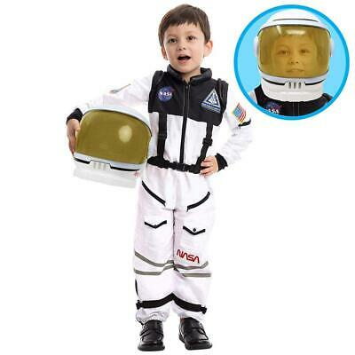 Astronaut NASA Pilot Costume with Movable Visor Helmet for Large (10-12yr)  - Astronaut Costume With Helmet