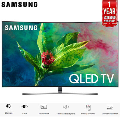 """Samsung 65"""" Q7 QLED Curved Smart 4K UHD TV 2018 Model + 1 Year Extended Warranty"""