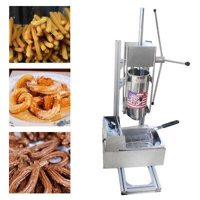 Heavy Duty Manual Vertical 3 L Spanish Donut Churros Machine Maker W 6l Fryer