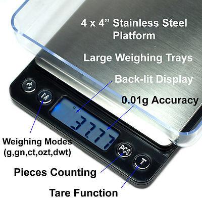 500g x 0.01g Digital Jewelry Precision Scale w/ Piece Counting ACCT-500 .01 gram