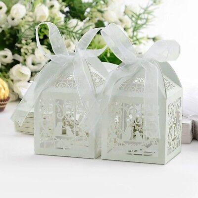 50 Stk. Hochzeitsboxen wedding gift box Geschenke Dekoration Hochzeit weiß