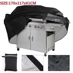 EXTRA LARGE BBQ COVER HEAVY DUTY WATERPROOF RAIN SNOW BARBEQUE GRILL PROTECTOR