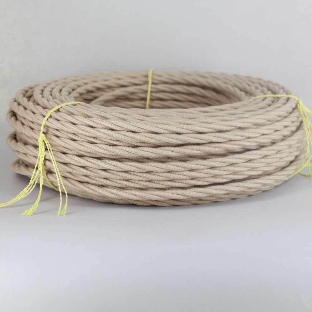 Cloth Covered Twisted Vintage Lamp Wire ~ { 27 Colors} Antiq