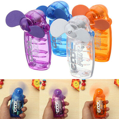 Mini Pocket Fan Cool Air Hand Held Battery Cooler Portable Home Travel Summer