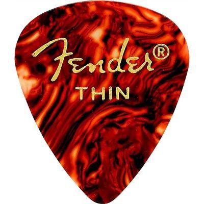 Fender 351 Shape Classic Celluloid Guitar Picks Thin Tortoise Shell 12Pack (Fender 351 Shape)