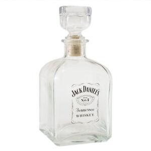 JACK DANIEL'S LABEL LOGO GLASS DECANTER