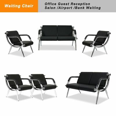 Pu Leather Office Airport Waiting Room Chair Bank Barber Salon Hall Seat Bench