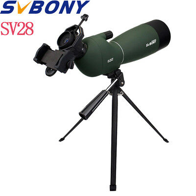 SVBONY SV28 25-75x70 abgewinkelt Zoom BAK4 Spektiv Wasserdicht+Phone Adapter DE