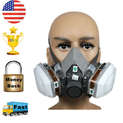 Safety Painting Spraying For 6200 N95 Half Face Dust Gas Mask Respirator Fliter