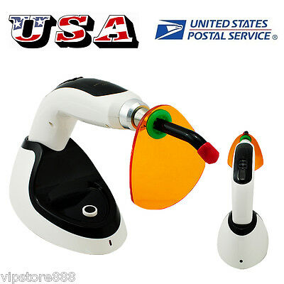 10w Wireless Cordless Led Dental Curing Light Lamp Tooth Whitening 2000mw Usa Ce