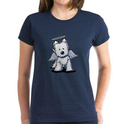 CafePress Westie Angel Women's Dark T Shirt Women's Cotton T-Shirt (1324985291) Angel Womens Dark T-shirt
