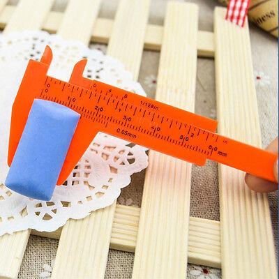 1pc Practical 80mm Stationery Vernier Caliper Plastic Measurement Tool HOT