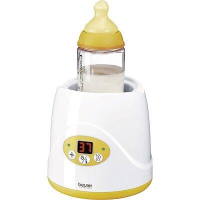 Beurer BY 52 Babykostwärmer handelsübliche Fläschchen Gläschen, weiss-gelb