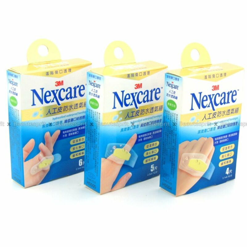 3M Nexcare Hydrocolloid Waterproof Wound Care Bandages